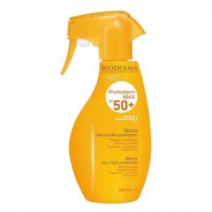 Photoderm Max Spray SPF50+ Très Haute Protection Peaux Sensibles Bioderma